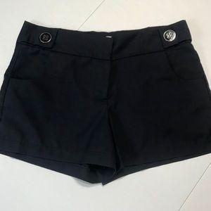 Just Ginger navy bow detail dress shorts